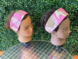 Classic Pink Camo Head Band