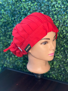 Hot Red Bouffant Hat