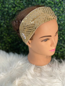 Simple Gold Sequin Headband