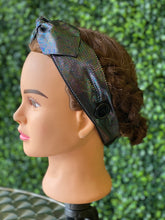 Load image into Gallery viewer, Black Holographic Bow Head Band