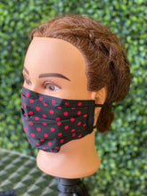 Load image into Gallery viewer, Red Dots Adjustable Face Mask