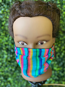 Mexican Sarape Mask (Blue)