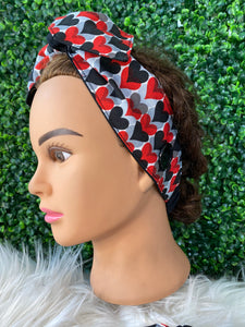 Queen of Hearts Bow Head Band
