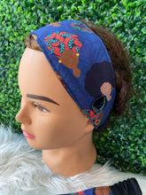 Load image into Gallery viewer, Simple Blue African Queen Headband