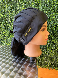 Black Bouffant Hat