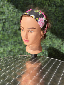 Pink Flowers Simple Headband