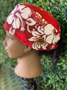 Red Tropical Island Cap