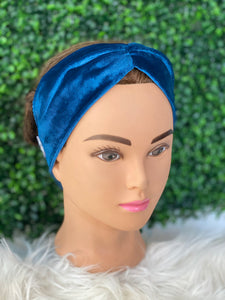 Teal Suede Twist Head Band