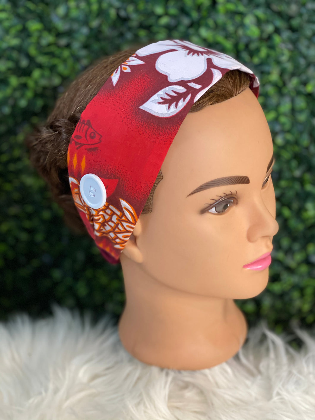 Simple Red Island Head Band