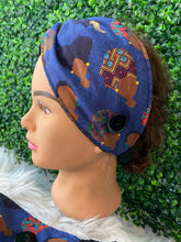 Load image into Gallery viewer, Blue African Queen Twist Headband