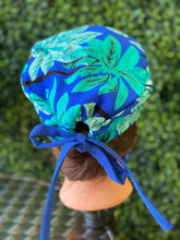 Load image into Gallery viewer, Blue Tropical Island Print Cap