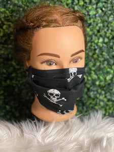 Black Skull Adjustable Mask