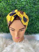 Load image into Gallery viewer, Yellow African Queen Twist Headband