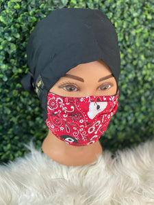 Puppy Red Bandana Adjustable Mask