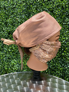 Shiny Rose Gold Surgical Cap