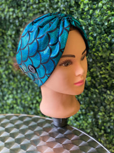 Blue Mermaid Dream Twist Head Band