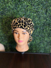 Load image into Gallery viewer, Velvet Leopard Bouffant Hat