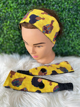 Load image into Gallery viewer, Simple Yellow African Queen Headband