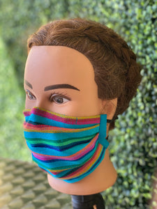 Blue Sarape Adjustable Mask
