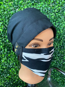 Zebra Adjustable Face Mask