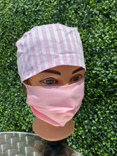Load image into Gallery viewer, Pink Stripes Surgical Cap