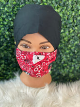 Load image into Gallery viewer, Puppy Red Bandana Adjustable Mask