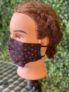 Red Dots Adjustable Face Mask