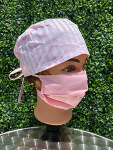 Pink Stripes Surgical Cap