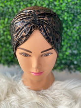 Load image into Gallery viewer, Shiny Brown Twist Leopard Headband
