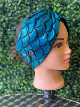 Load image into Gallery viewer, Blue Mermaid Dream Twist Head Band