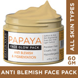 Papaya Face Pack For Glowing Skin For Women & Men And Blemish Removal Pigmented Lip Treatment Lip Balm Scrub NicoLips Combo - Skin Organ