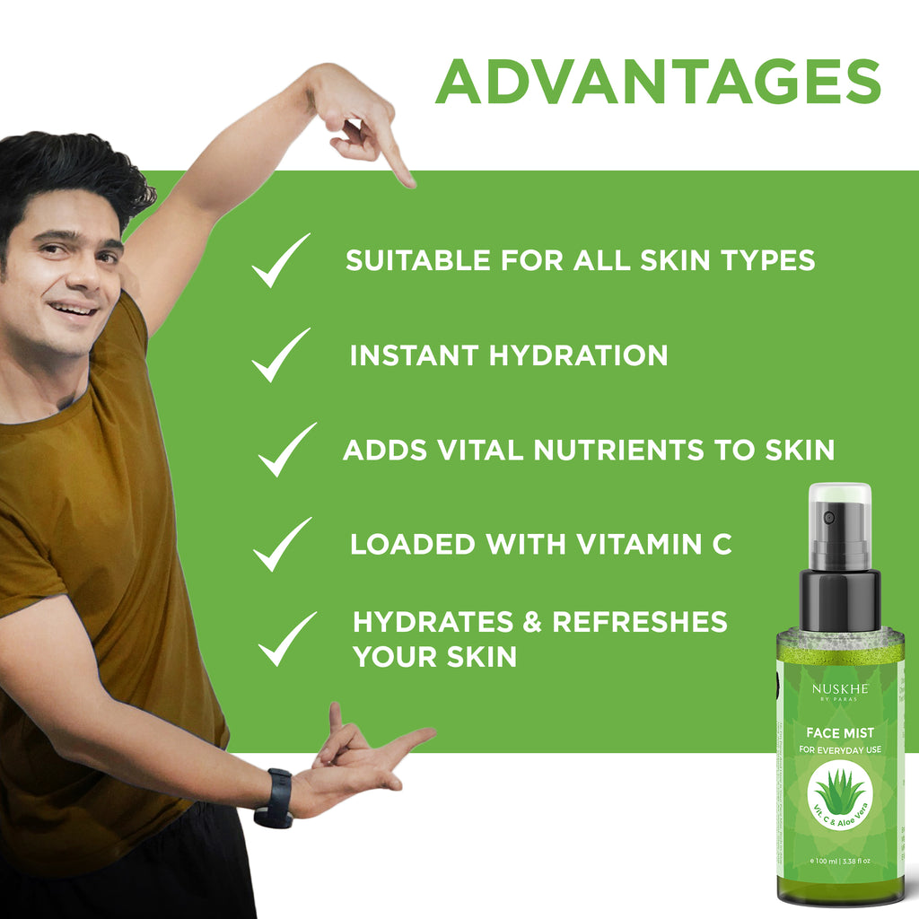 CTM Vitamin C & Aloe Vera Face Cleanser, Toner & Mist Combo For Women & Men Also Suitable For Sensitive Skin - Skin Organ