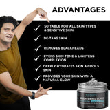 Charcoal Scrub & So Sensitive Vitamin E Rose Face Cream Combo For Women & Men - Skin Organ