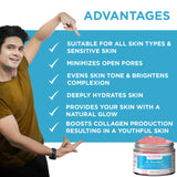 Vitamin E Rose Face Cream & Anti-Acne Face Cream Combo For Women & Men - Skin Organ