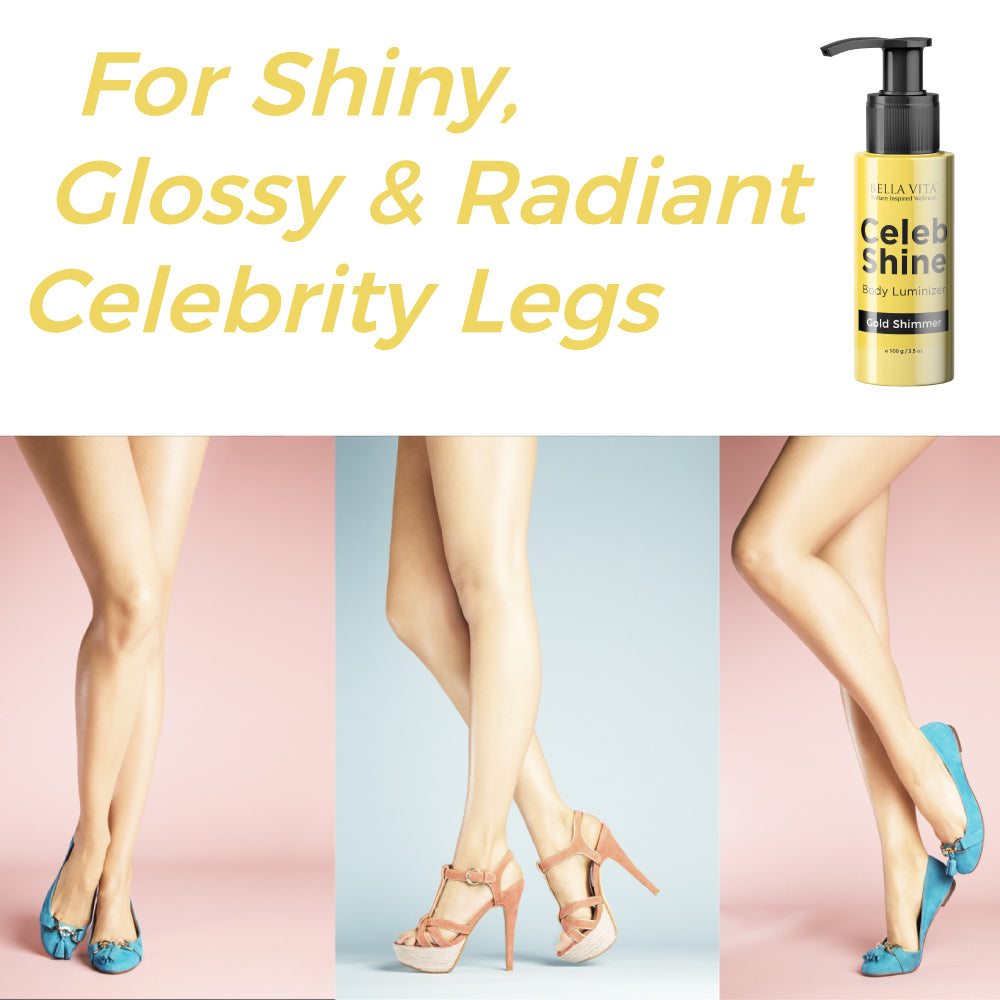 Celeb Shine Shimmer Body Gloss Lotion For All Skin Tones, Gold Shade, 100 ml - Skin Organ