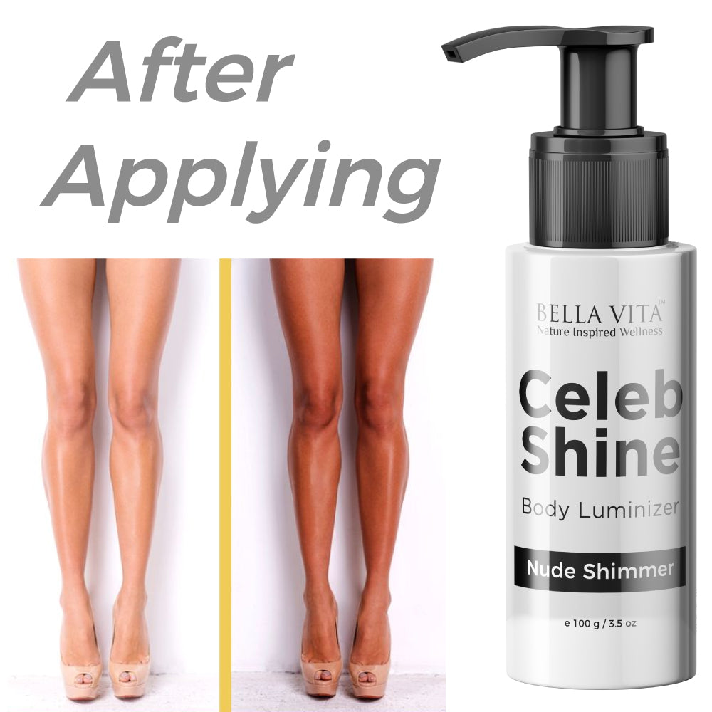 Celeb Shine Shimmer Body Gloss Lotion For All Skin Types, Nude Shade, 100 ml - Skin Organ