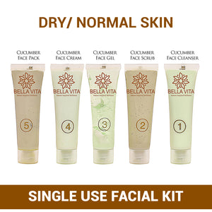 Cucumber Hydrating Facial Kit for Dry to Normal Skin, Pack of 5 - Skin Organ