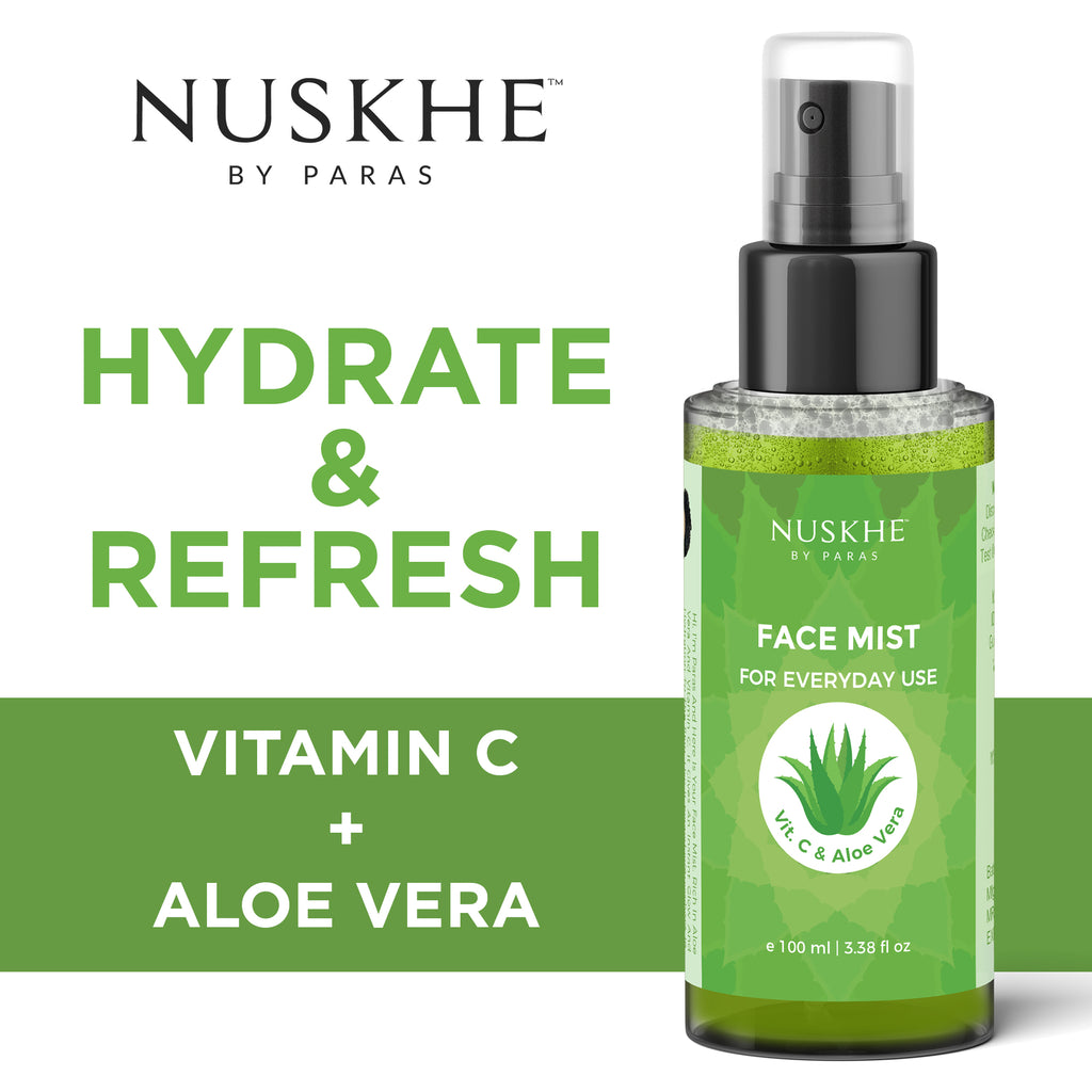 Vitamin C & Aloe Face Mist For Hydration & Freshness For Women & Men, 100 ml - Skin Organ