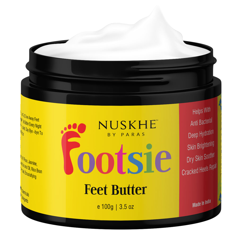 Footsie Feet Butter Foot Crack Cream For Cracked Heels, Dry Skin Repair, 100g - Skin Organ