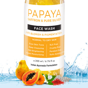 Papaya Face Wash For Dry Skin To Normal Skin, 200ml - Skin Organ