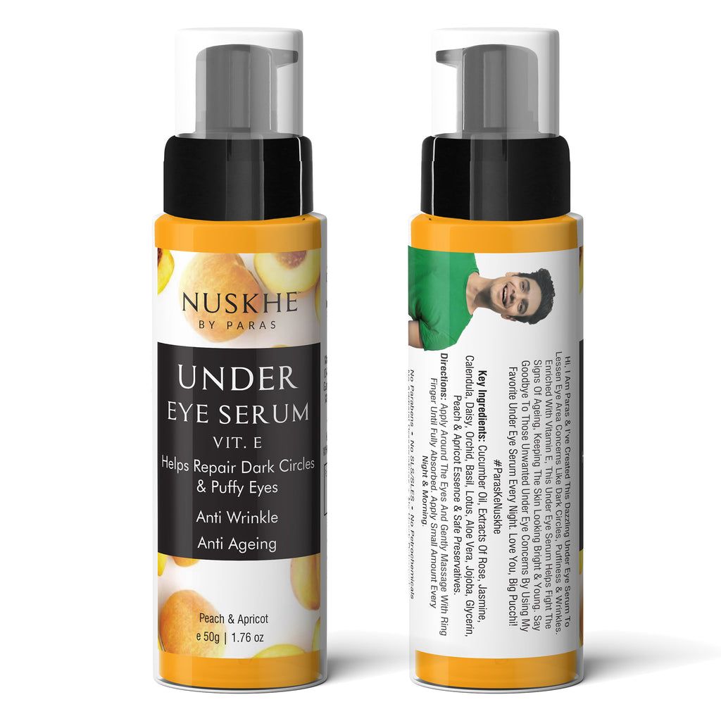 Under Eye Serum, Anti Acne Cream & Charcoal Face Scrub Combo For Women & Men - Skin Organ
