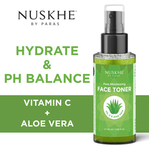 Face Toner For Pore Minimiser & Deep Hydration For Women & Men With Vitamin C & Aloe Vera, 100 ml - Skin Organ