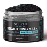 Pure Charcoal Face Scrub & Pure Charcoal Face Pack Mask For Women & Men, Combo - Skin Organ
