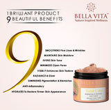 Bella Vita Organic Charcoal Body Scrub & Skin Repair Total Care Cream Combo For Men & Women