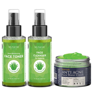 CTM Face Cleanser, Toner & AntiAcne Gel Creme Moisturiser Combo For Acne Prone Skin