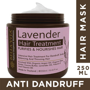 Lavender Keratin Hair Cream Mask for Frizzy, Dry & Damaged Hair, 250ml - Skin Organ