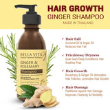 Hair Growth Ginger & Rosemary Shampoo (200 ml) & Conditioner (200 ml) Combo with Argan Oil No SLS/SLES & Parabens - Skin Organ