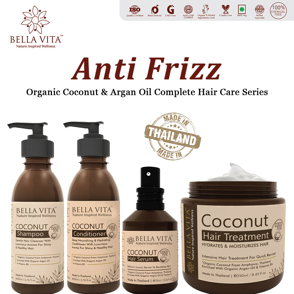 Coconut Argan Keratin Conditioner For Frizzy, Dry and Damaged Hair, 200ml - Skin Organ