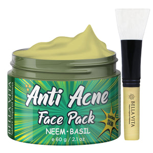 Neem Chandan Anti-Acne Face Pack for Oily Skin, 75g - Skin Organ