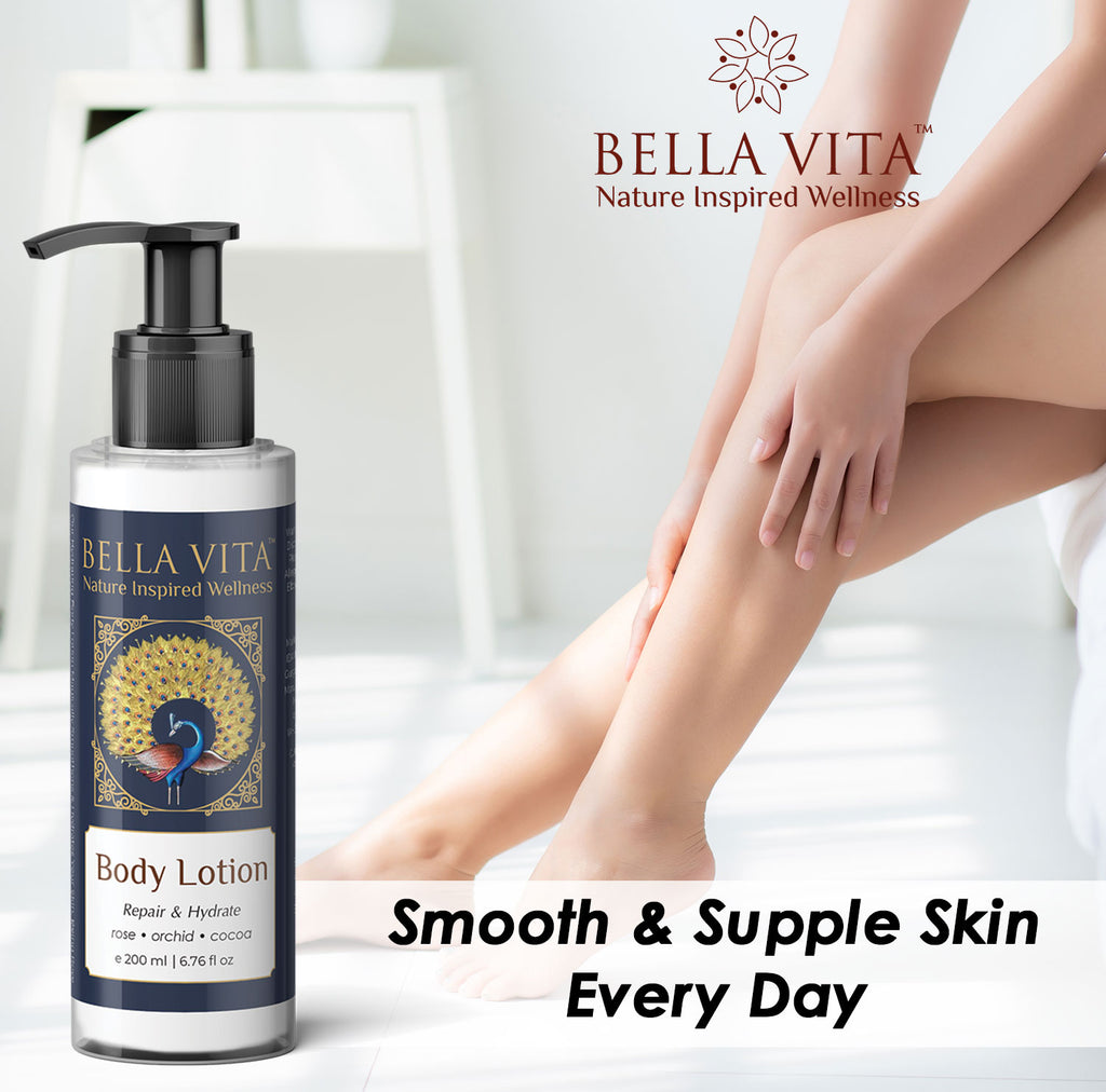 Charcoal Body Scrub & Body Lotion Combo For Deep Hydration & Skin Repair